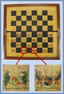 Coat of Arms Wooden Chessboard, late 19th or early 20th Century