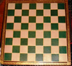Leuchars Green-and-White Chessboard