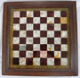 Marble and Foil Chessboard, late 19th Century