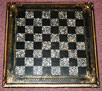 Victorian Papier-mâché Chessboard Inlaid with Mother-of-Pearl Squares