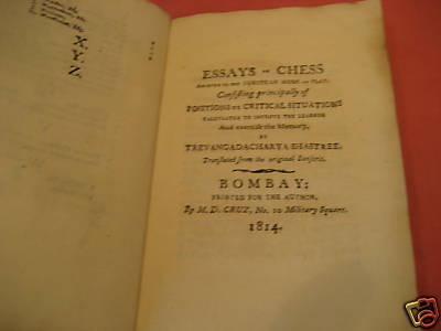 essays on chess Outline of chess jump to navigation jump to search starting position of a game of  chess libraries chess essays the morals of chess, by benjamin franklin.