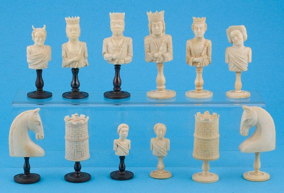 Dieppe 18th Century Ivory Chess Set