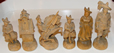 German Wooden Carved Figural Set