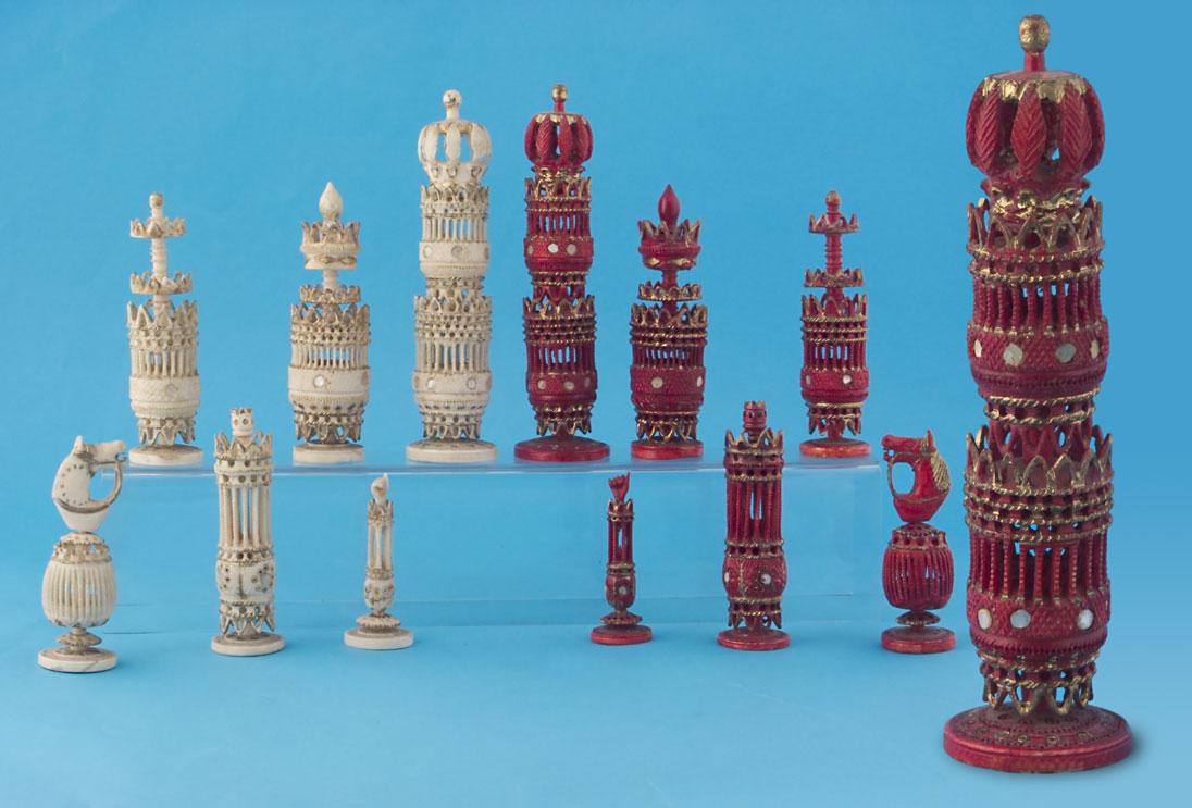 Mexican Bone Chess Set