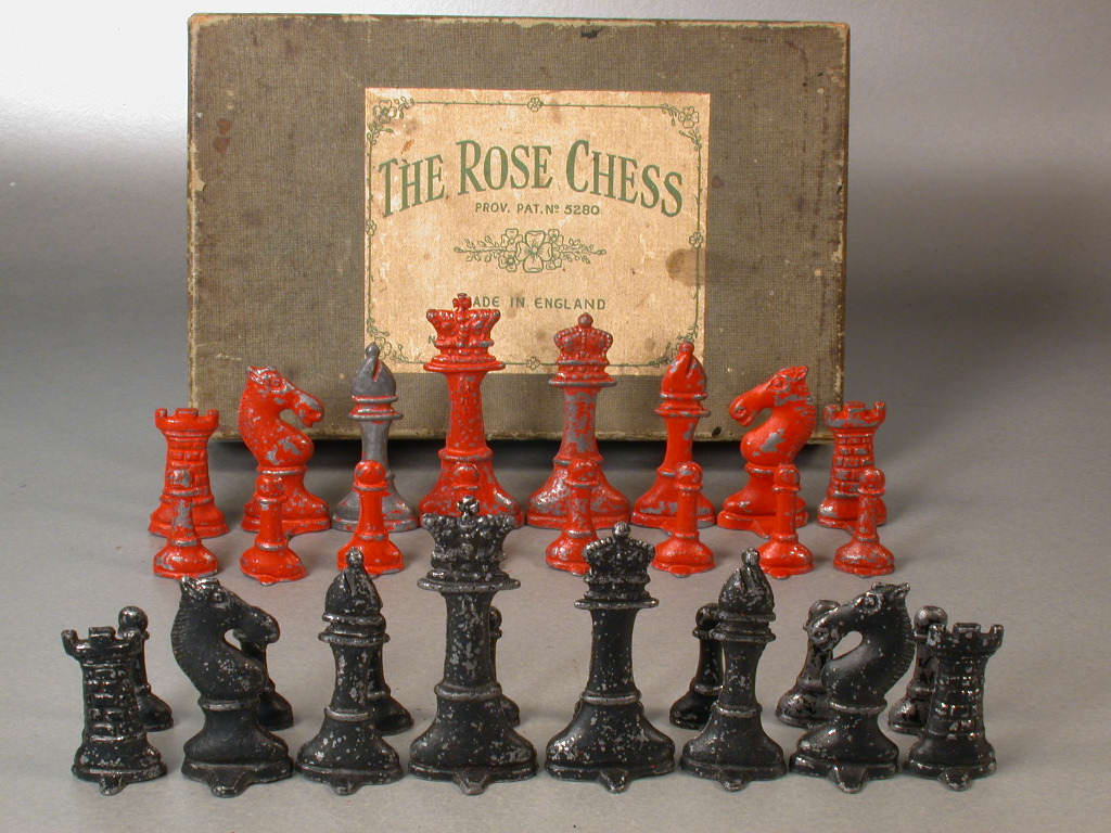The rose lead chess set - The chessmen chess set ...