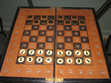 Antique Pocket Travel Chess Set